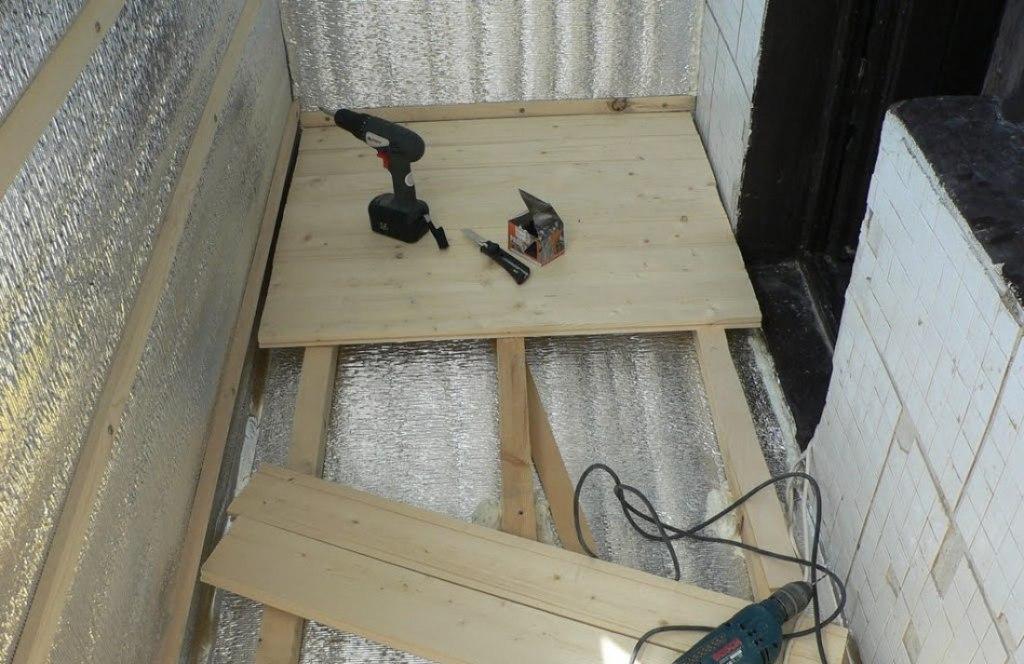 Полы на балконе своими руками пошагово с фото